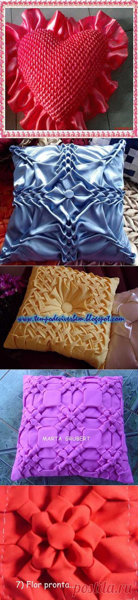 Удивительные подушки с буфами.