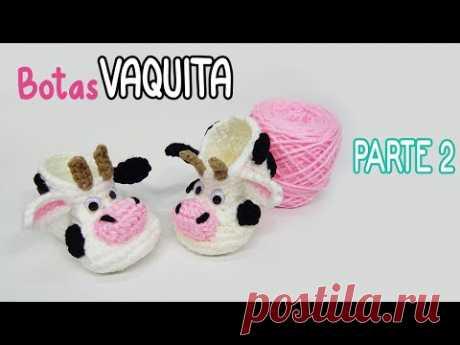 Botas VAQUITA a crochet - PARTE 2