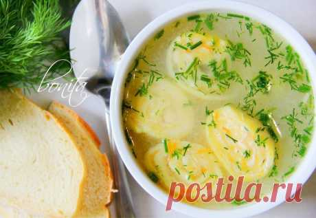 Вкусный куриный суп с сырными рулетиками | Вкусные рецепты