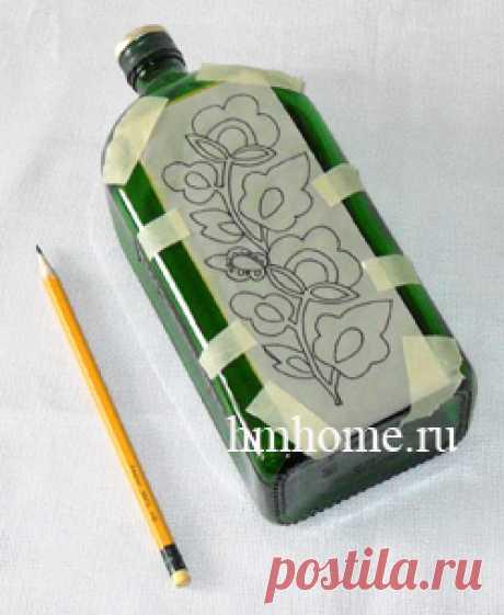 Роспись бутылки запекаемыми витражными красками. Мастер-класс
