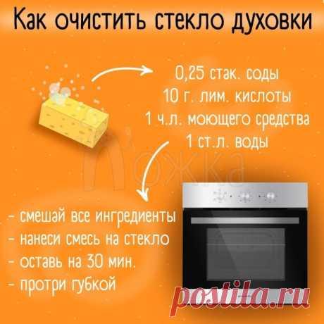 Как очистить стекло духовки — Полезные советы