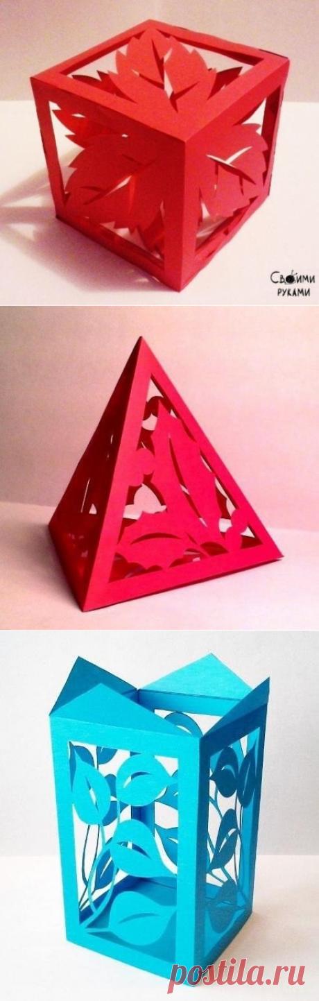 Шаблоны для создания необычных бумажных фигур.