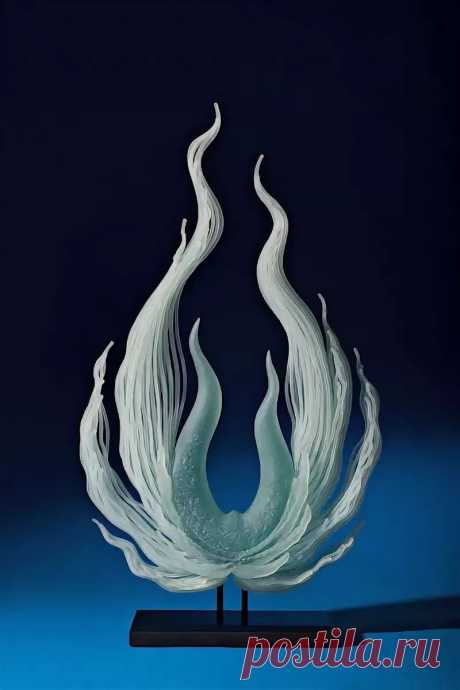 Американский художник по стеклу К. Уильям Леквайр (K. William LeQuier)