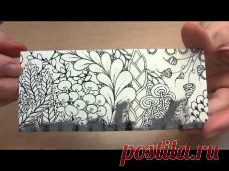Timelapse Drawing Zentangle (Bookmark)