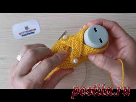 Вязание простых детских носков - Вязание простых детских туфель пошагово
