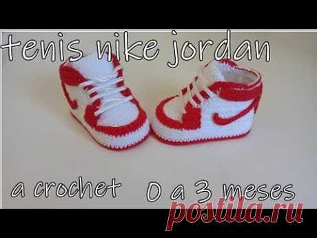 Nike Air jordan a crochet - Baby booties -0 a 3 meses
