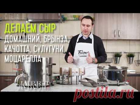 Варим сыр, инструкция. 5 видов одновременно - моцарелла, качотта, домашний, брынза, сулугуни