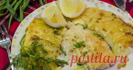 Филе рыбы в духовке в заливке с картошкой Нежная, деликатная рыба хороша с картошкой - получится сытно и вкусно!
