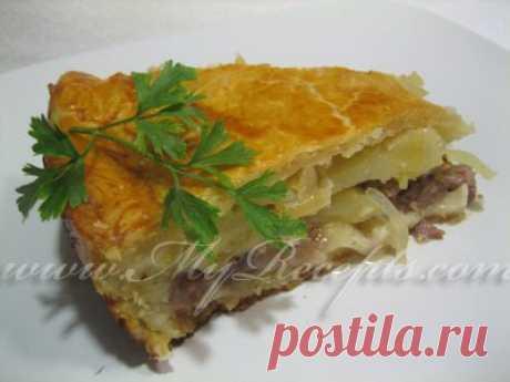 Уж очень вкусный татарский пирог с мясом и картофелем | Про рецептики - лучшие кулинарные рецепты для Вас!