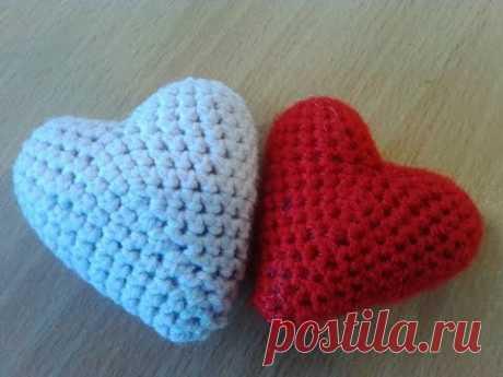 Сердечко - Валентинка! Heart - Valentine! Amigurumi. Crochet.  Амигуруми. Игрушки крючком.