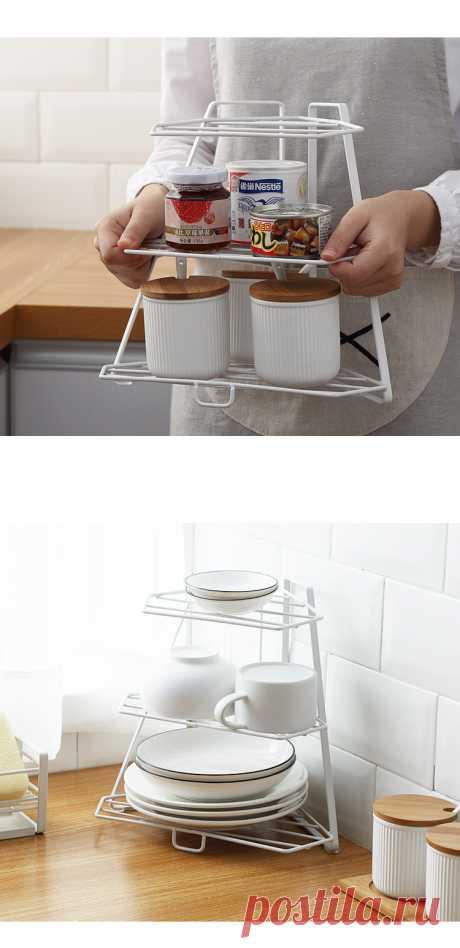 органайзер для кухни Угловая полка для ванной комнаты многослойная кухонная железная стойка для хранения Подставка угловая полка Органайзер держатель полки в ванной органайзер для кухни|Подставки для хранения и стеллажи| | АлиЭкспресс