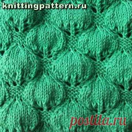 Scheme of knitting Berry leaves