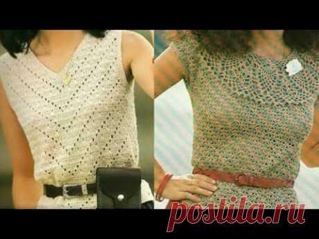 Топы крючком со схемами  - Crochet tops with patterns