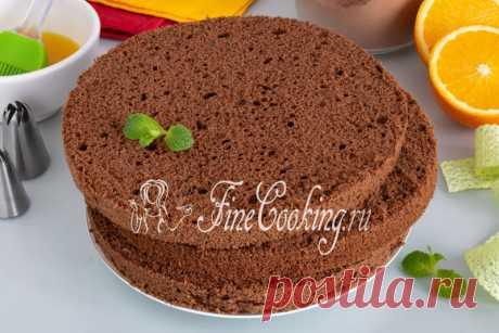 Польский шоколадный бисквит (брошенный) Пышный, вкусный и красивый бисквит для торта по простому рецепту.