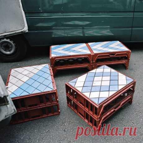 Пластиковая мебель из ящиков (подборка)