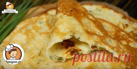 Блины с сыром на кефире на Масленицу / Простые рецепты