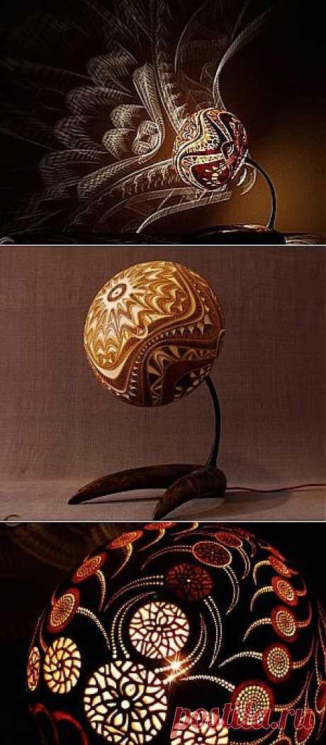 Удивительные лампы из тыквы - Ярмарка Мастеров - ручная работа, handmade