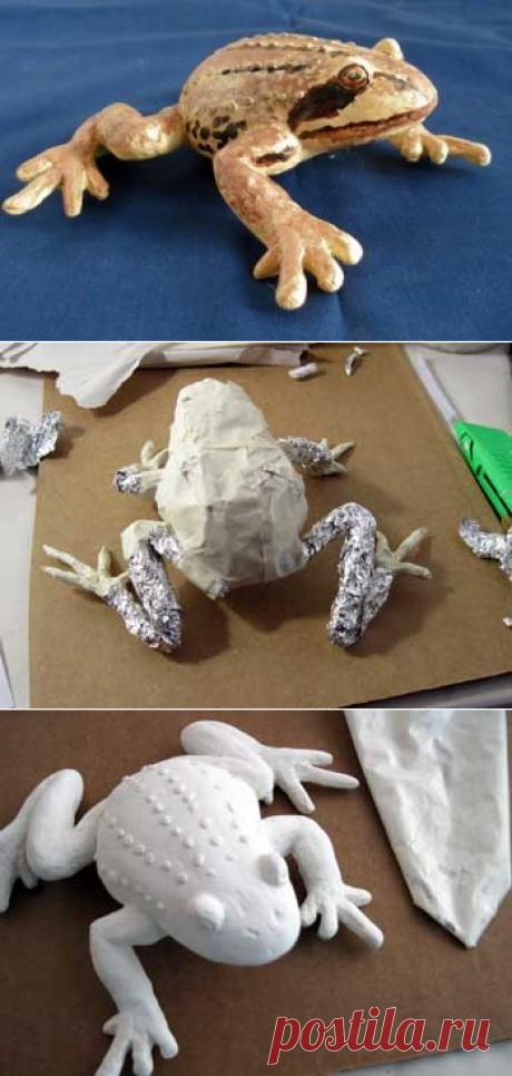 Лягушка из папье-маше своими руками. Как настоящая! — Своими руками
