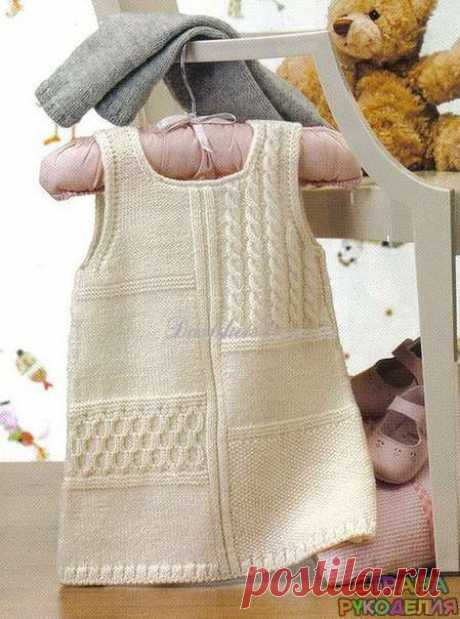 Сарафан для малышки. - Платье.Сарафан - Вязание для детей - Рукоделие