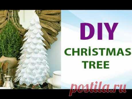 Как сделать новогодную ёлку из пластиковых ложек #Diy Papercrafts