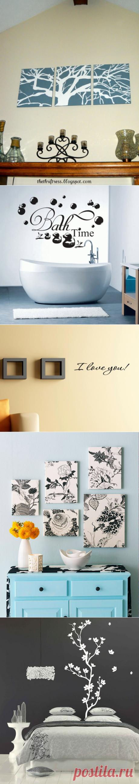 Интересные идеи для декора стен — Роскошь и уют