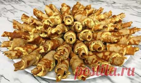 Печеночные рогалики — шедевр в мире закусок: любимый рецепт Такая закуска на праздничный стол станет настоящим украшением праздника. Готовится все очень просто и из обычного набора продуктов.