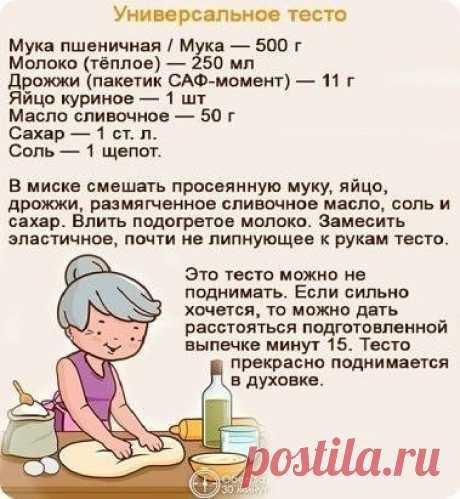 Рецепт теста, который будет полезен каждой хозяйке!