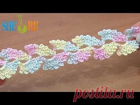 ▶ Вязание шнура Урок 6 Нежный шнур украшенный пико - YouTube