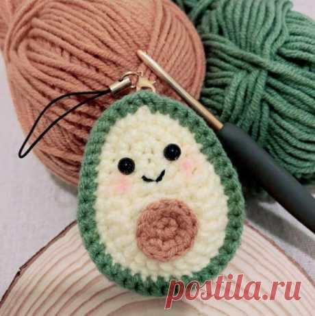 Малыш-авокадо крючком