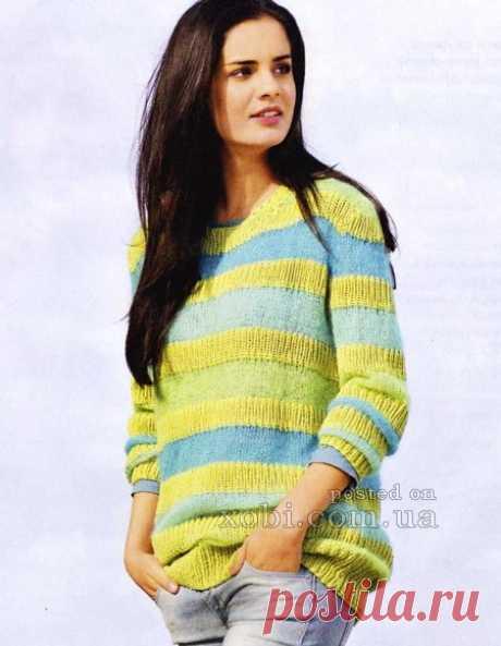 Женские пуловеры и свитера крючком и спицами, 400+ моделей » Страница 3
