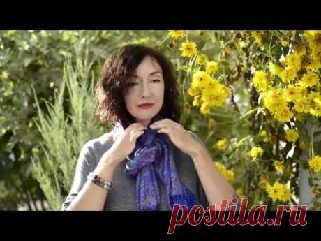 10 элегантных и простых способов повязать платок или палантин
