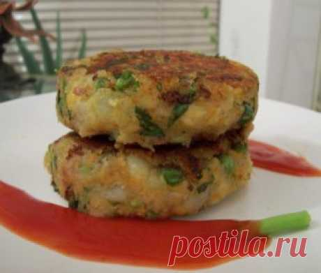 The baked fish cutlets the recipe with a photo, dish caloric content