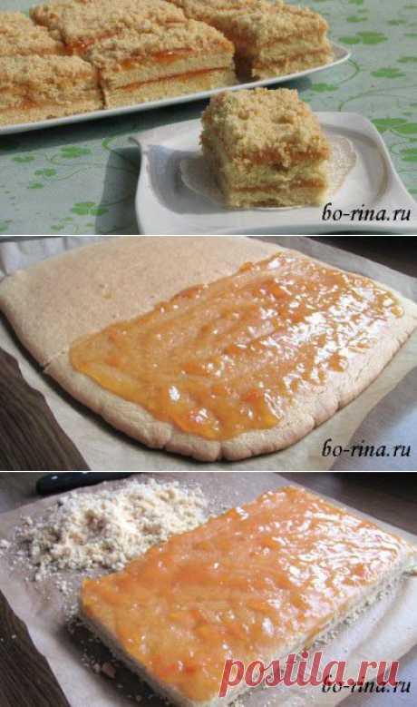 Пирожные «Песочная полоска» с повидлом :)