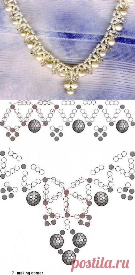 Free pattern schema for necklace Corner