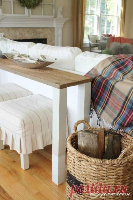 Удобные приставные столики к дивану. 13 идей + мастер-классы