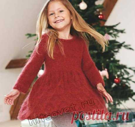 Вязаное ажурное платье для девочки - Хитсовет