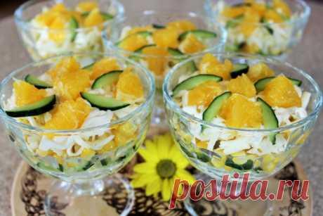 Салат-коктейль с апельсинами - Простые рецепты Овкусе.ру