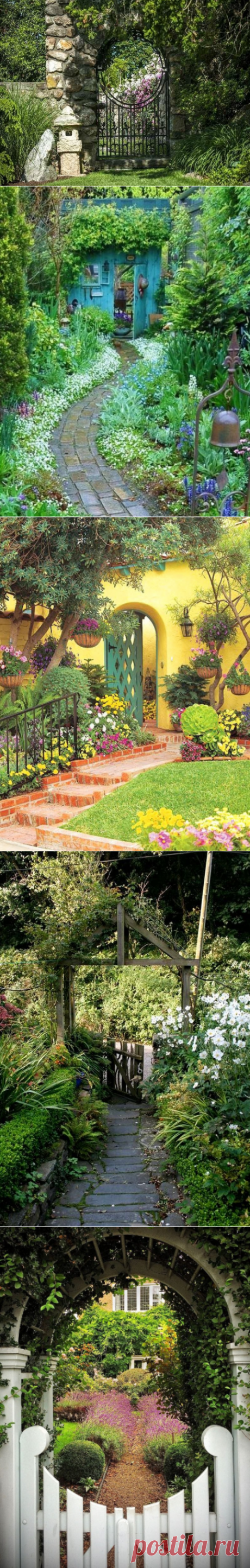 35 Beautiful Flower Garden Gate Ideas, Designs and Pictures - Home and Gardens
