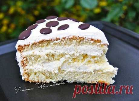 """Вкусный нежный бисквитный торт """"Елизавета"""" Очень вкусный и легко готовится!"""