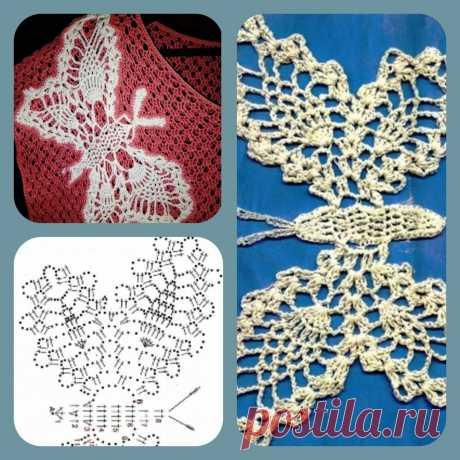 Волшебные бабочки, связанные крючком: небольшая подборка схем | Левреткоман-оч.умелец | Яндекс Дзен