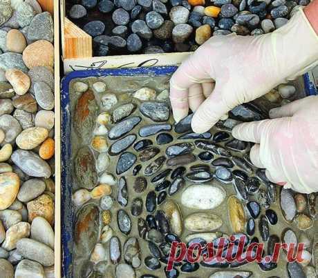 Гравий — это звучит гордо, или Как выложить мозаику из камней / своими руками / 7dach.ru