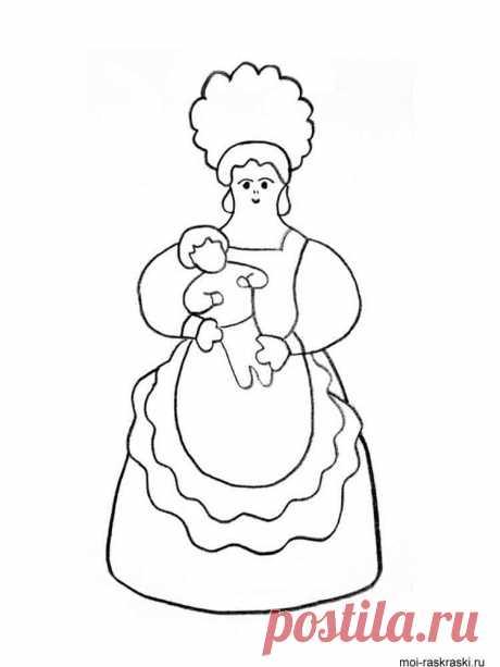 Картинки для раскрашивания с изображением «Дымковских игрушек» (37 фото) ⭐ Забавник