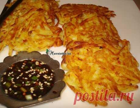 Картофельные драники по-китайски