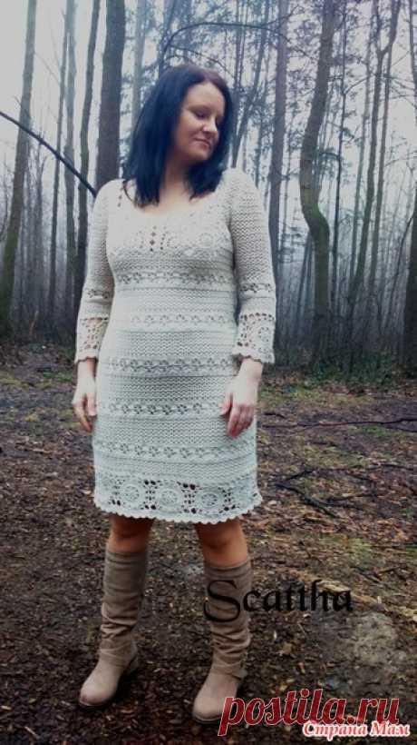 Опубликовала Scattha в группе Вязание Бежевое платье