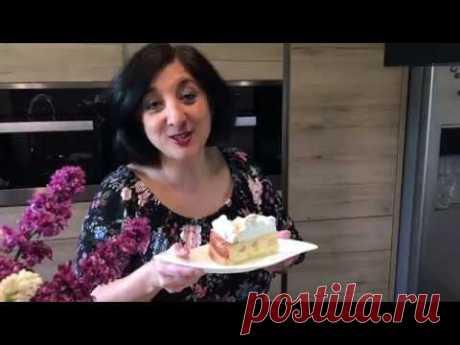 Изумительно вкусный немецкий  Творожно-Сливочный Пирог с нарезной Грушей и Безе!!!!
