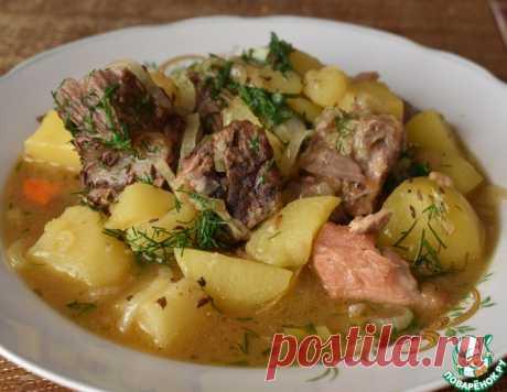 """Тушеный картофель с мясом """"Папин"""" – кулинарный рецепт"""