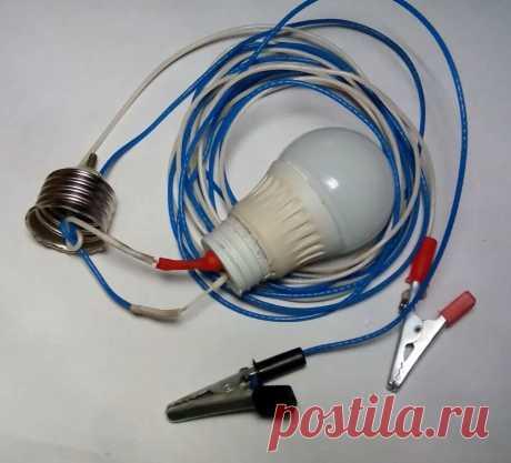 Автомобильная переноска на 12 вольт из светодиодной лампы на 220 вольт | AvtoTechLife | Яндекс Дзен