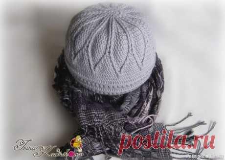 Тёплая шапочка крючком с подкладкой спицами. МК | Вязаные крючком аксессуары