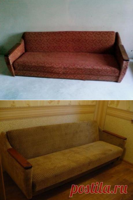 Перетяжка старого дивана своими руками