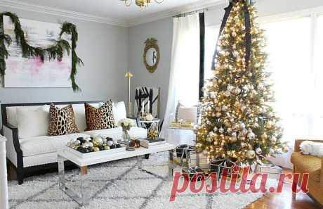 Элегантный новогодний интерьер в чёрно-золотом цвете   IVOREE